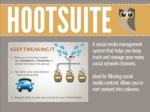 hootsuitea social media management system that