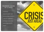 warning signs of a crisis surprise insufficient