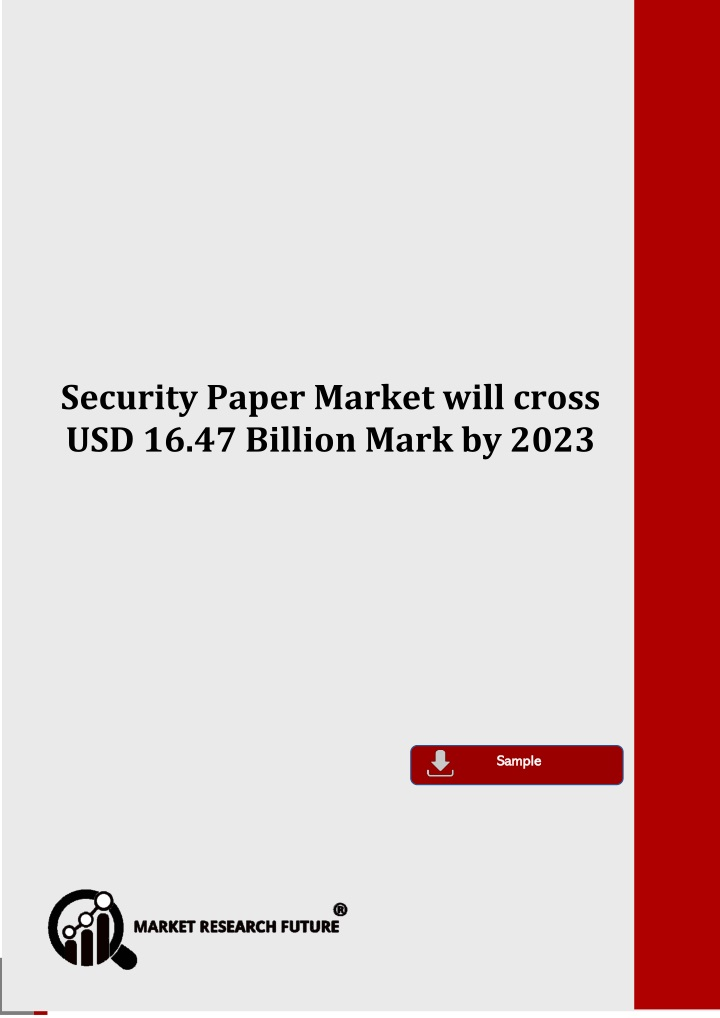security paper market will cross n.