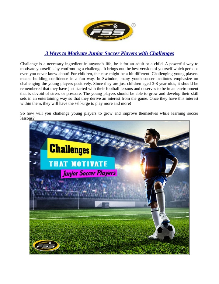 3 ways to motivate junior soccer players with n.