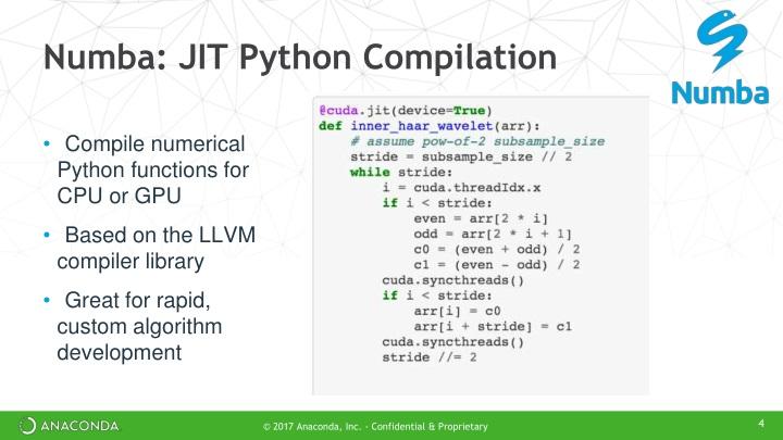 PPT - GPU Computing with Python and Anaconda: The Next
