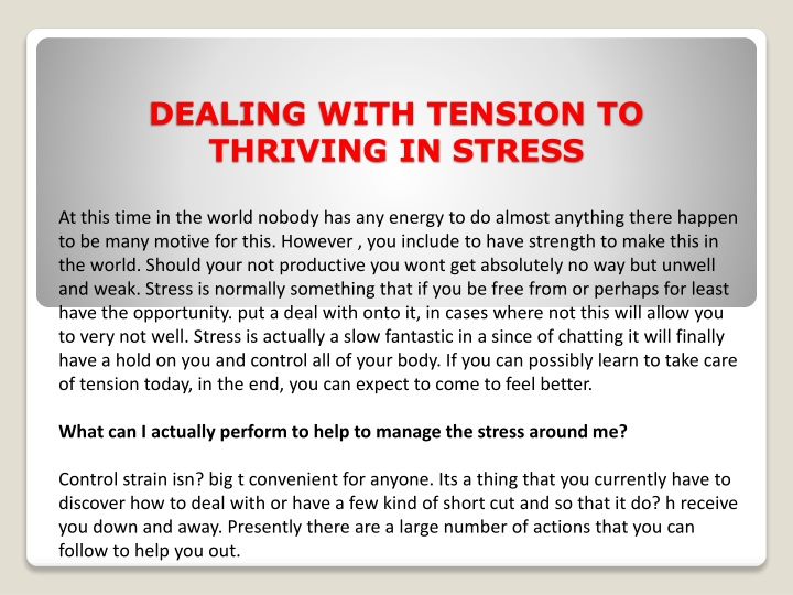 dealing with tension to thriving in stress n.