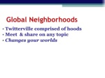 global neighborhoods ul li twitterville comprised