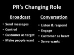 pr s changing role ul li broadcast