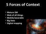 5 forces of context mature sm web of all things