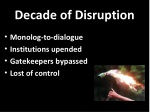 decade of disruption