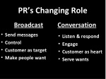 pr s changing role