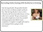 bartending online training and alcohol server