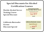 special discounts for alcohol certification 1