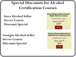 special discounts for alcohol certification