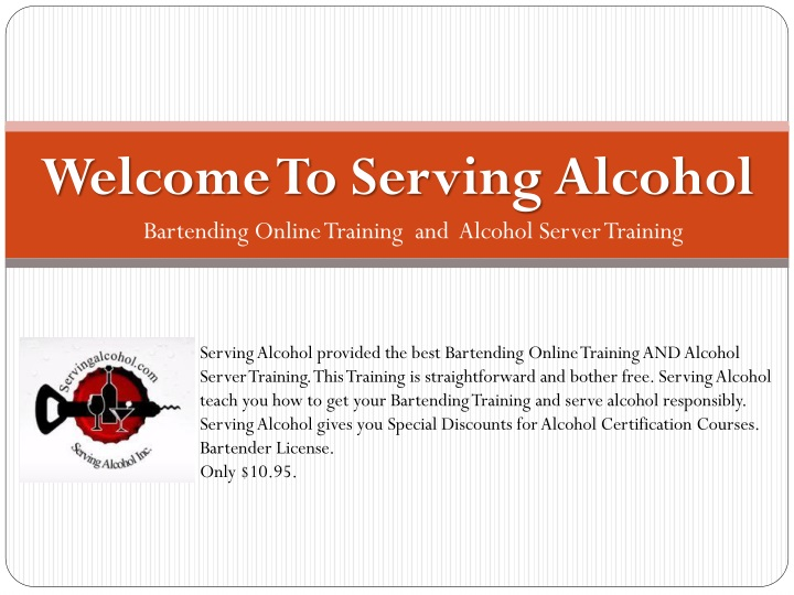 welcome to serving alcohol n.