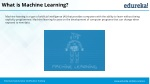 what is machine learning 1