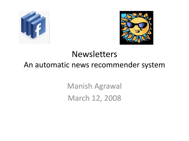 newsletters an automatic news recommender system n.