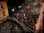police try to disperse a march marking
