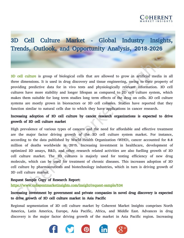 3d cell culture market global industry insights n.