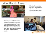 mixed reality events streaming live audio