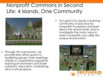 nonprofit commons in second life 4 islands