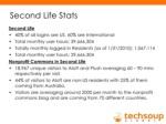 second life stats ul li second life