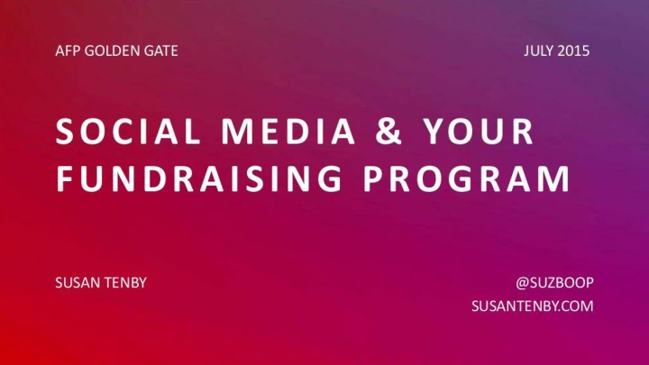 social media and your fundraising program n.
