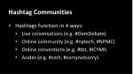 hashtag communities