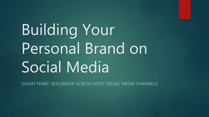building your personal brand on social media n.