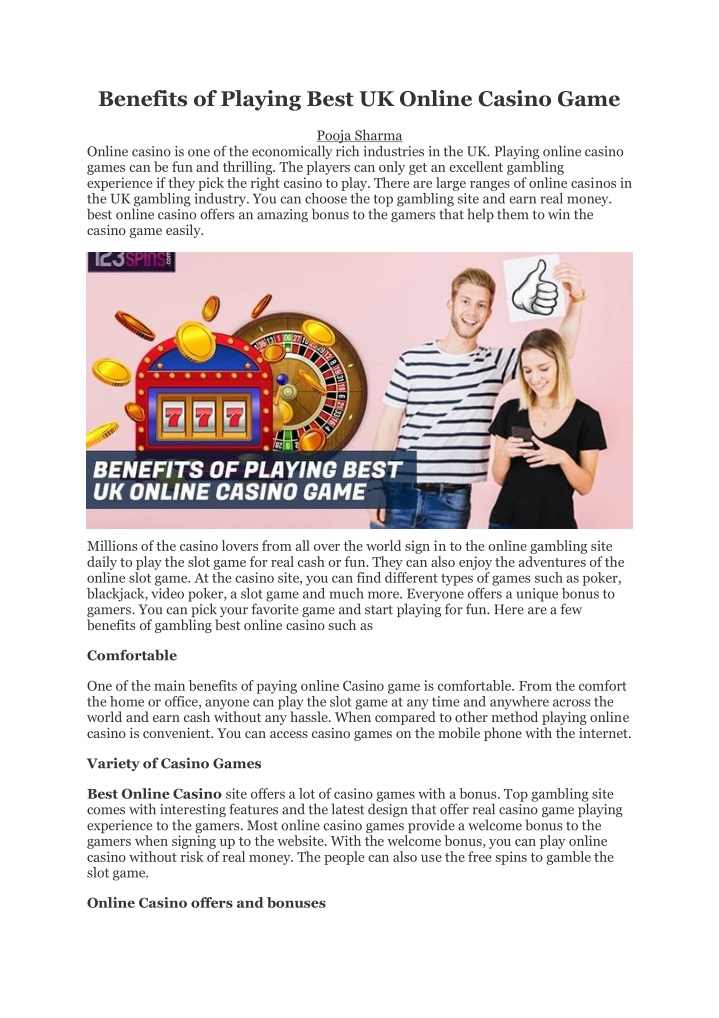 benefits of playing best uk online casino game n.