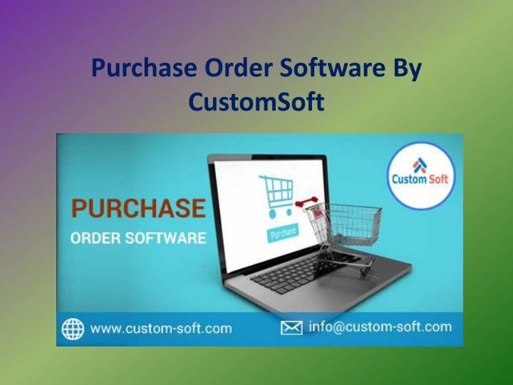 purchase order software by customsoft n.