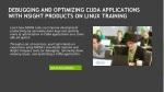 debugging and optimizing cuda applications with