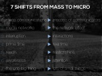 7 shifts from mass to micro