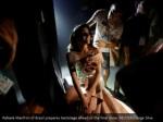 rafaela manfrini of brazil prepares backstage