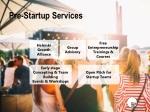 pre startup services