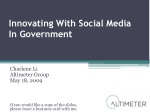 innovating with social media in government