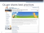 ca gov shares best practices