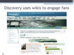 discovery uses wikis to engage fans