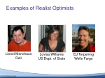 examples of realist optimists