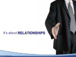 it s about relationships
