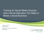 training for social media success how internal