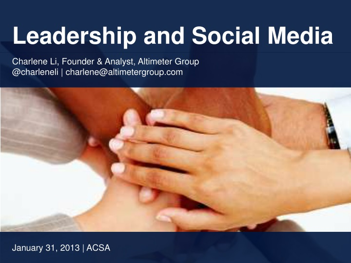 leadership and social media n.