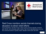 red cross monitors social channels during