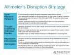 altimeter s disruption strategy