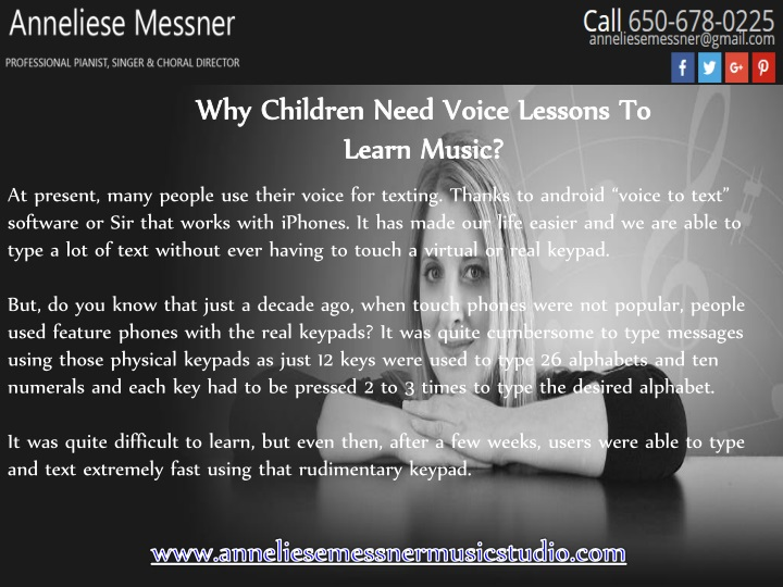why children need voice lessons to learn music n.