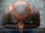 a devotee attends the religious tattoo festival 1