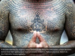 a devotee attends the religious tattoo festival