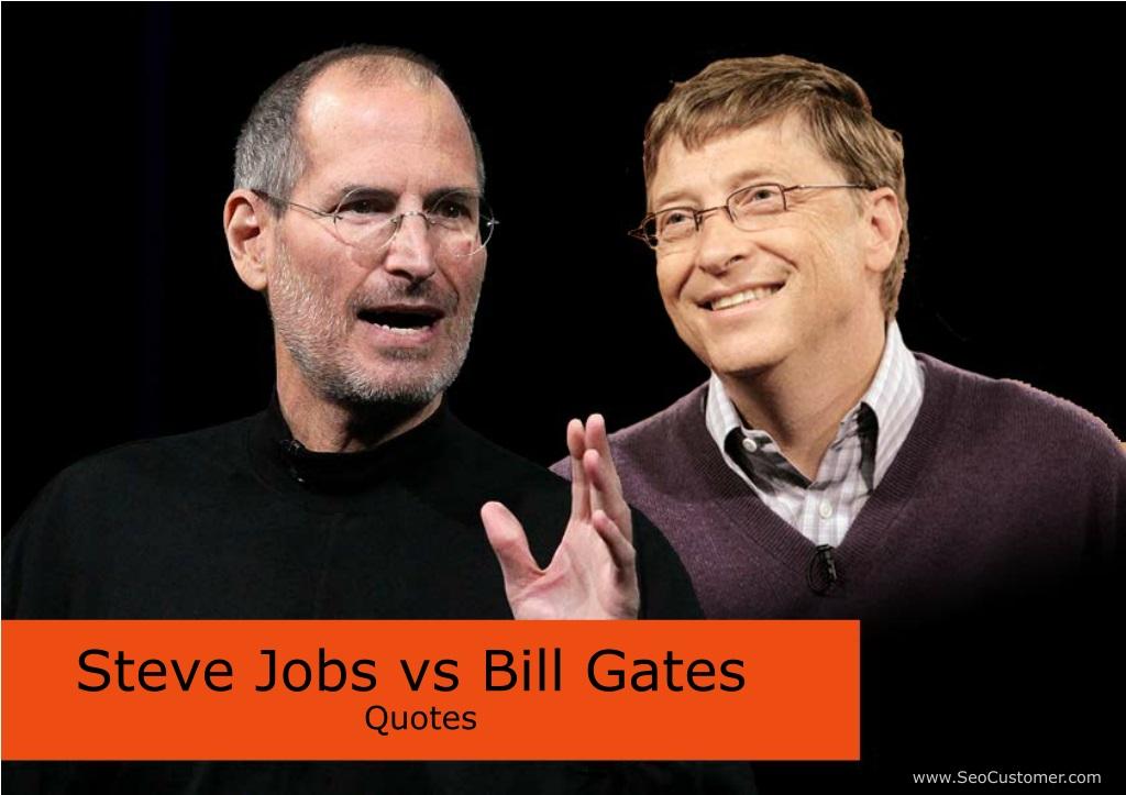 Ppt Steve Jobs Vs Bill Gates Powerpoint Presentation Free Download Id 8227947