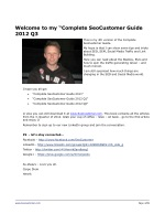 welcome to my complete seocustomer guide 2012 q3