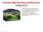find the right directory and resource listing 1 2