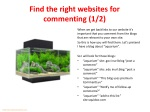find the right websites for commenting 1 2