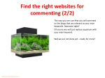 find the right websites for commenting 2 2