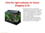 find the right websites for guest blogging 1 2