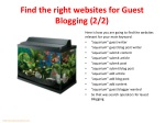 find the right websites for guest blogging 2 2